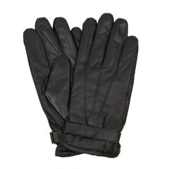 barbour gloves black burnished leather thinsulate mgl0009 bk71