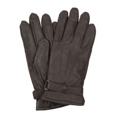 barbour gloves brown burnished leather thinsulate mgl0009 br71