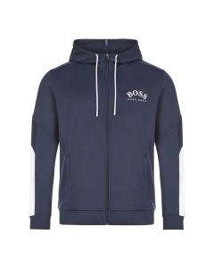 boss athleisure hoodie saggy 50430548 410 navy