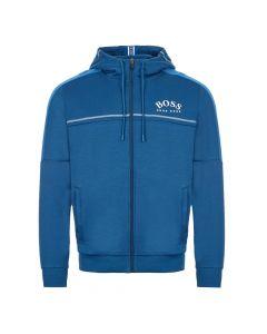 boss athleisure hoodie saggy 504215941 434 blue