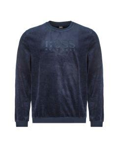 boss bodywear sweatshirt velour 50403908 403 dark blue