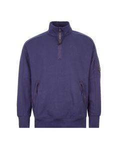 CP Company Sweatshirt Zip   MSS010A 055160W 878 Blue