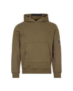 CP Company Hooded Sweat Diagonal Fleece | MSS047A 005086W 683 Ivy Green