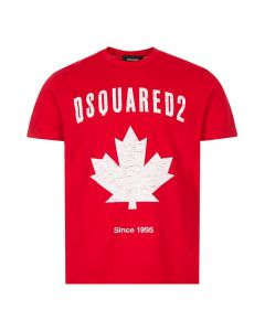 DSquared T-Shirt Canada | S74GD0706 S22427 307 Red / White