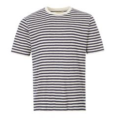 Folk T-Shirt | CI24J Ecru / Navy