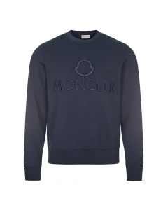 moncler sweatshirt embroidered 8G796 10 809KR 778 navy