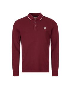 moncler long sleeve polo shirt 83480 00 84556 464 burgundy