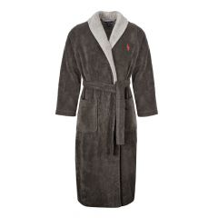 Ralph Lauren Shawl Robe | 71453012|002 Charcoal And Grey | Aphrodite Clothing