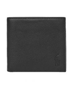Ralph Lauren Billfold Wallet   405526127 002 Pebbled Black