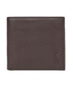 Ralph Lauren Billfold Wallet | 405526127 001 Pebbled Brown