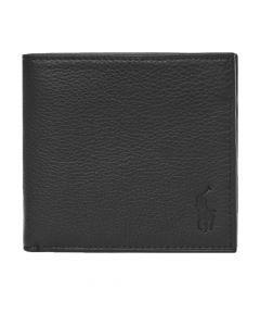 Ralph Lauren Billfold Wallet Debossed   405526310 003 Black
