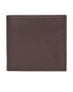Ralph Lauren Billfold Wallet Debossed   405526310 002 Brown