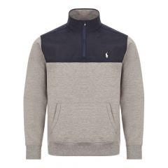 Ralph Lauren Half Zip Sweat Grey/Navy 710792892 003