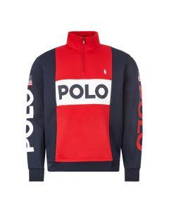Polo Ralph Lauren Sweatshirt Half Zip | Red 710781437 001