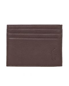 Ralph Lauren Card Holder Embossed   405526231 006 Brown