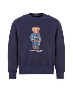 ralph lauren sweatshirt bear | 710792903 001 navy