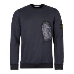 Stone Island Sweatshirt Pocket 711564046 V0020 Navy