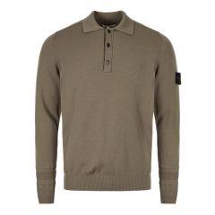 Stone Island Long Sleeve Polo Shirt | 7115589A1 V0068 Green