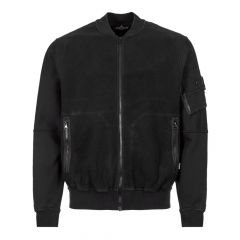 stone island shadow project bomber jacket 711960406 V0029 black fleece
