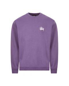 stussy sweatshirt crew   1914500 PURPLE purple