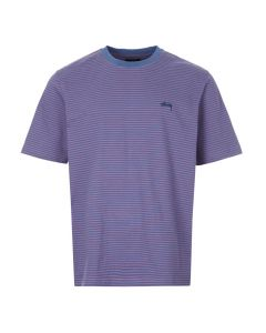 stussy t-shirt mini stripe | 1140188 blue pink