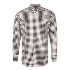 Shirt - Brown / White