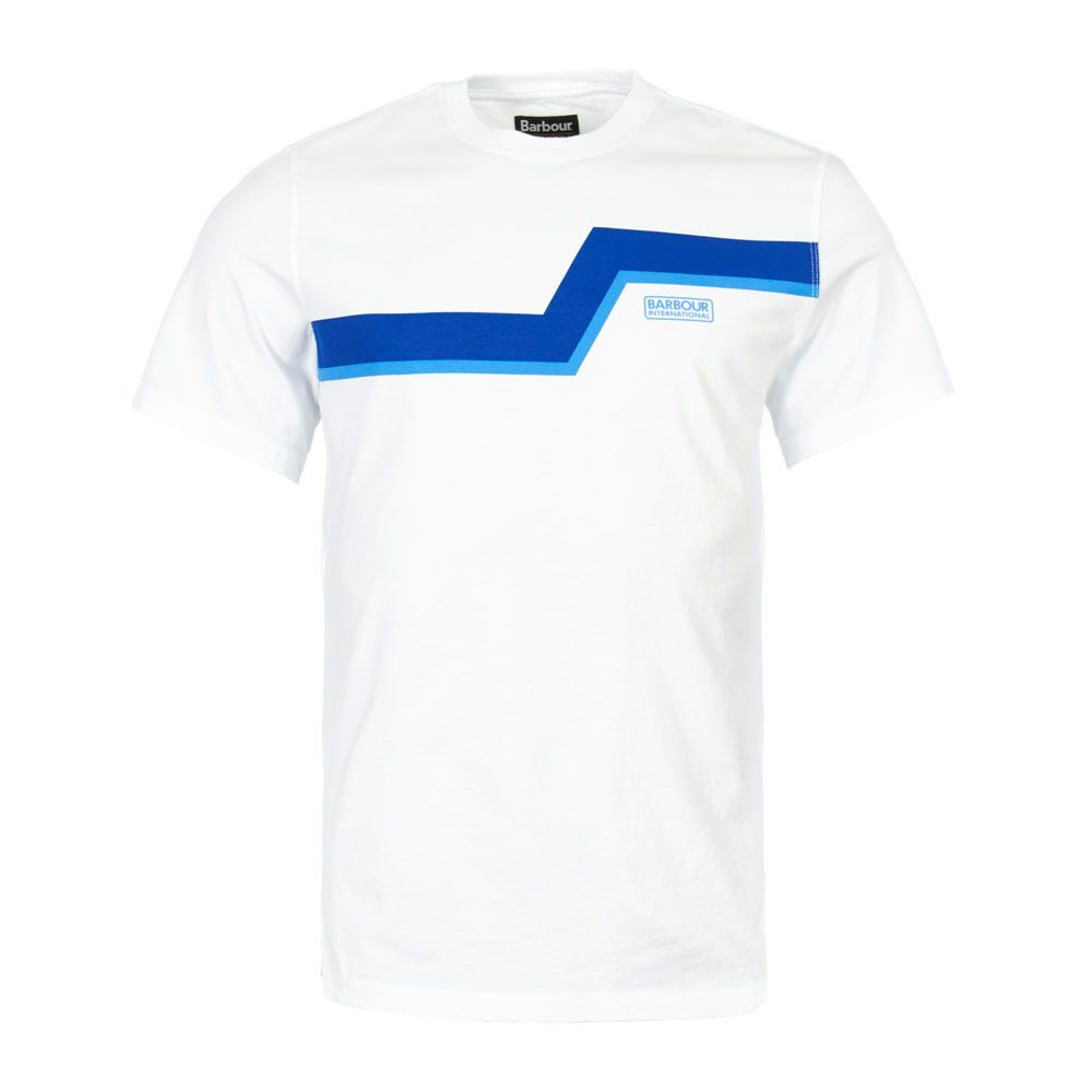 half off new arrivals free shipping Barbour International T-Shirt | MTS0528 WH11 White ...