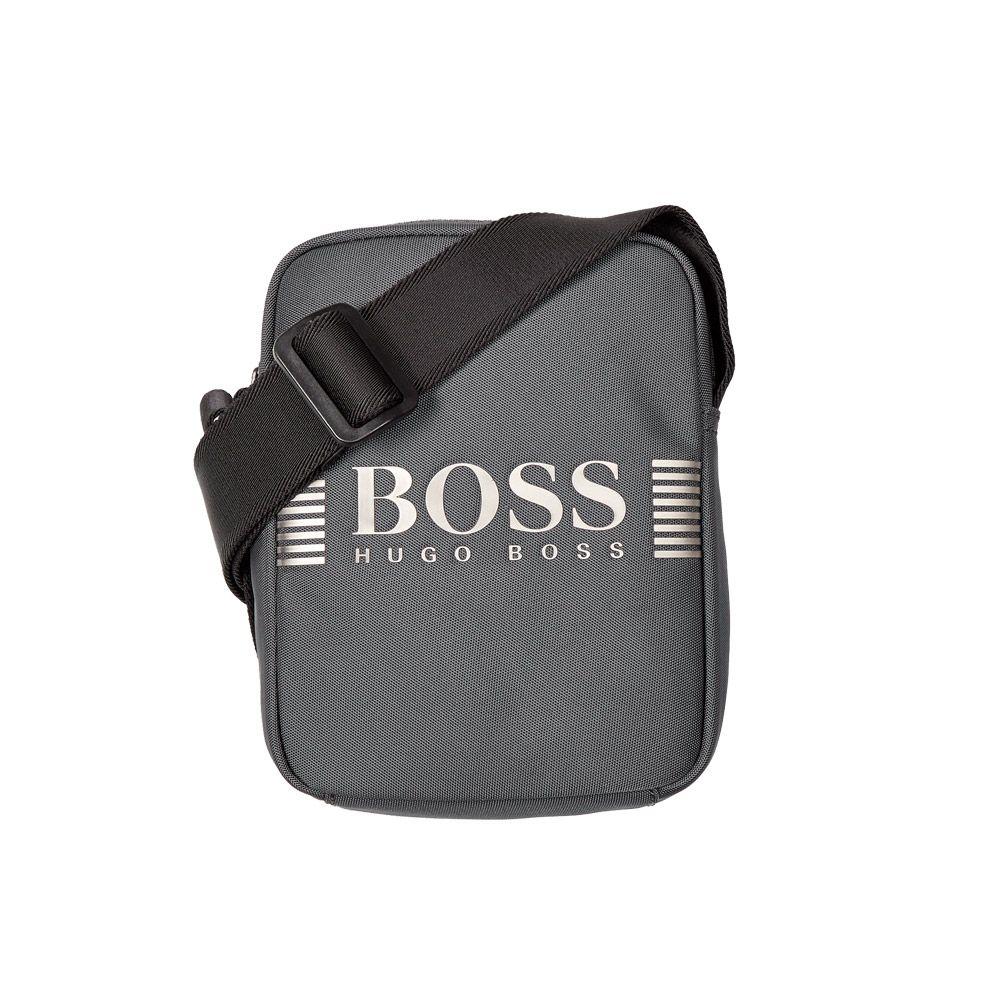 Hugo Boss Mens Polo Large, 024-Med Grey