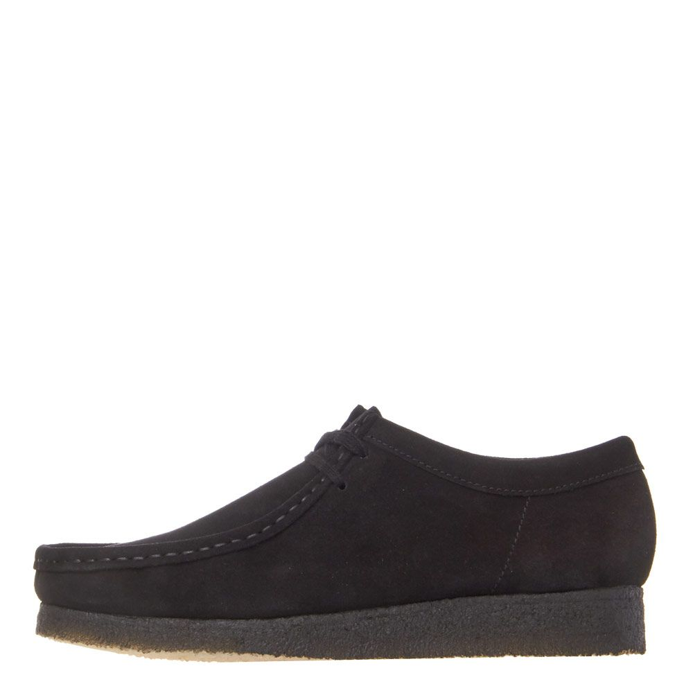 Wallabee Shoes Black Suede
