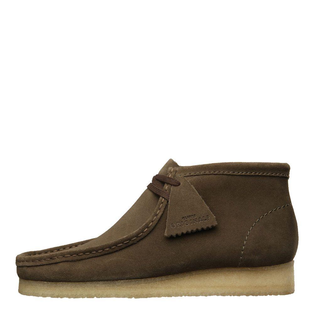 Clarks Originals Wallabee Boot Men/'s Olive Green Suede 26134754