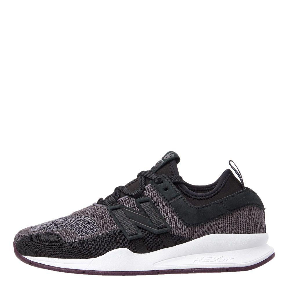 dark grey new balance trainers