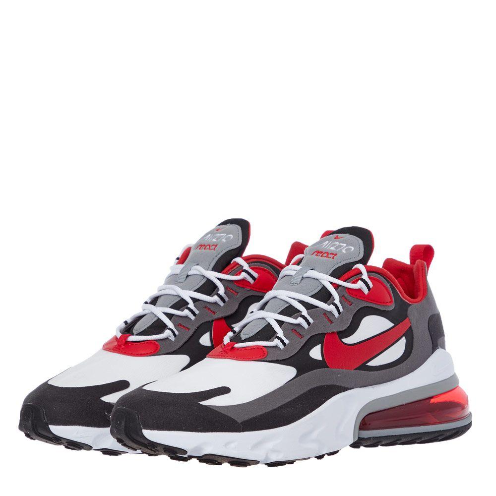 Nike Air Max 270 React Trainers C13866 002 Red White Black Aphrodi
