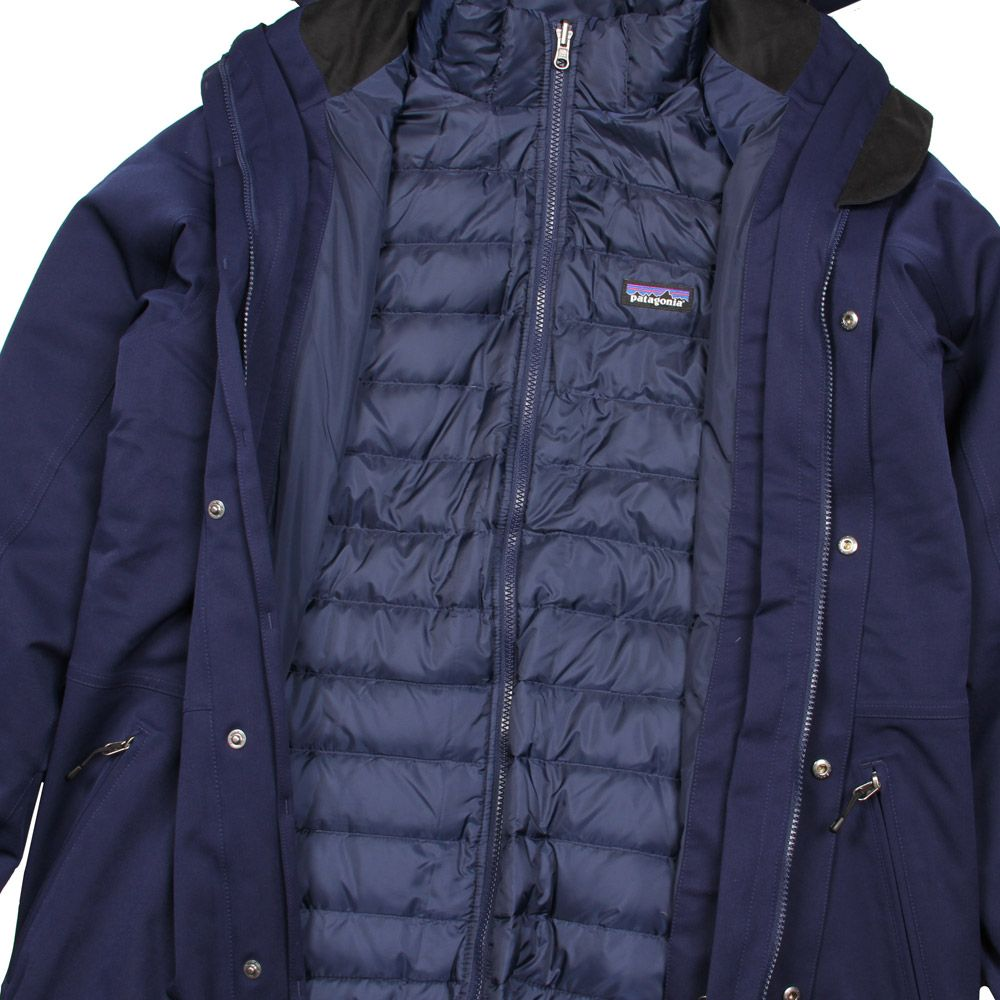 Patagonia Tres 3-in-1 Down Parka in Navy | At Aphrodite ...