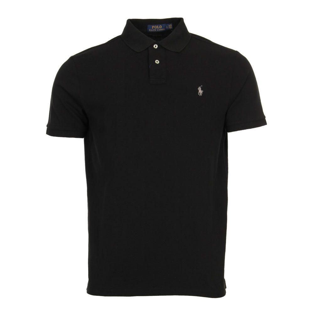 Custom Fit Polo Shirt Black