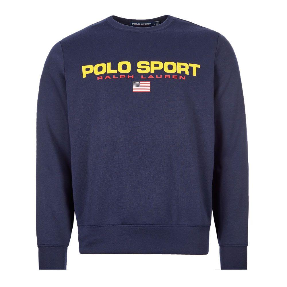 storlek 40 otroliga priser super kvalitet Ralph Lauren Sweatshirt Polo Sport   710795275 001 Navy   Aphrodite199
