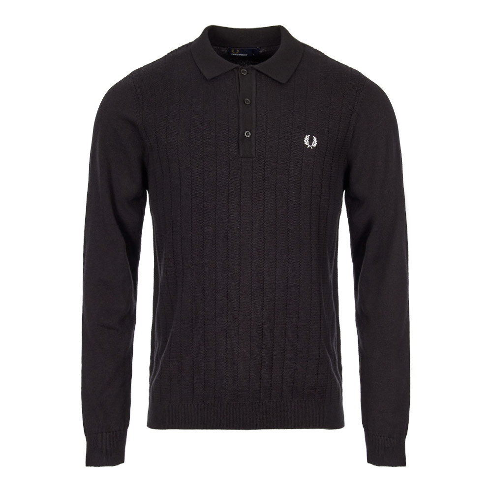 Perry Knitted Shirt 112 Front Black Marl Polo Fred K5501 pxOwRqPRd 50ecf10871