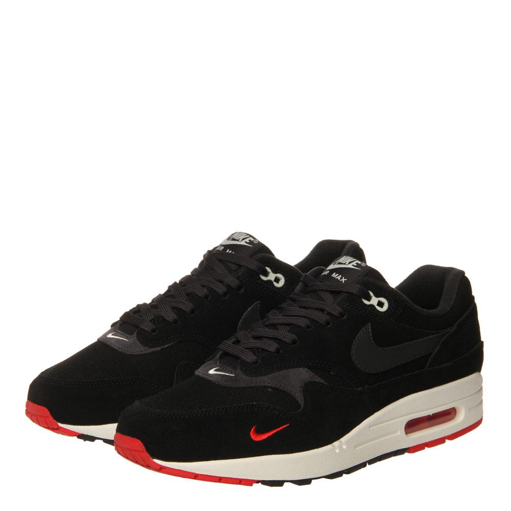 af5e0a2aef136 Nike Air Max 1 Premium | 875844-007 Black / Oil Grey / University Red |  Aphrodite1994