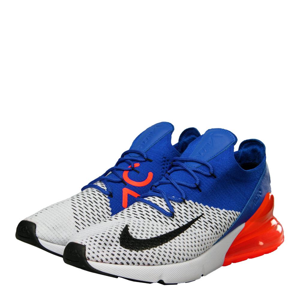 wholesale dealer 571f1 c010e Nike Air Max 270 Flyknit   AO1023 101 White / Racer Blue ...