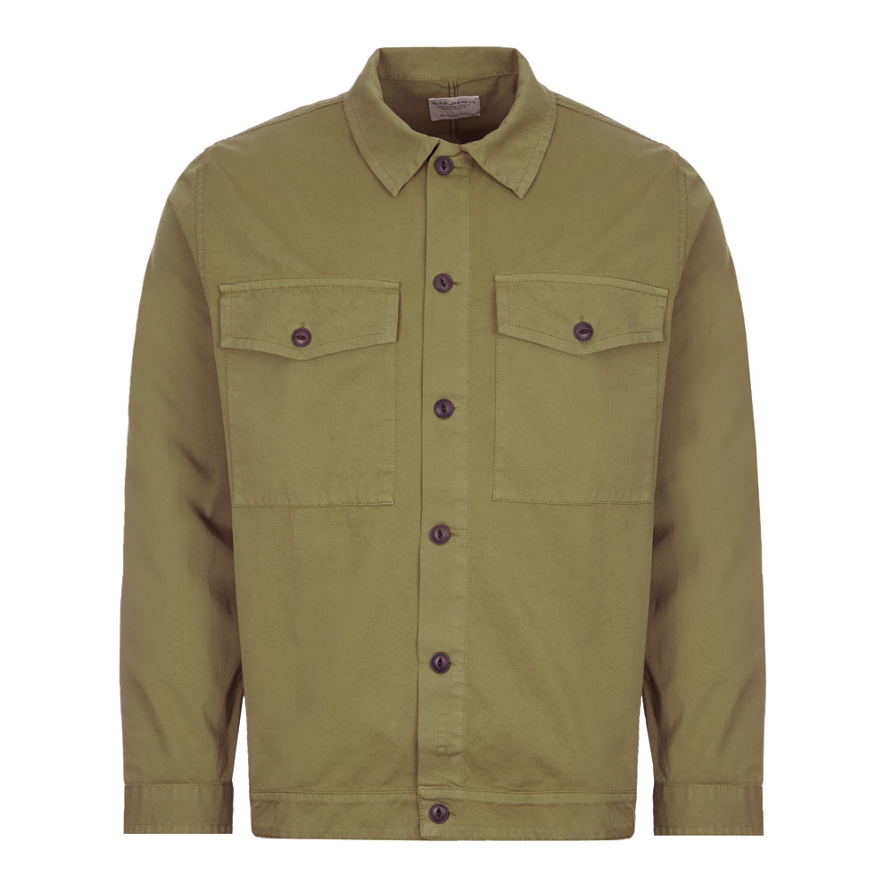 Nudie Jeans Overshirt Colin In Green