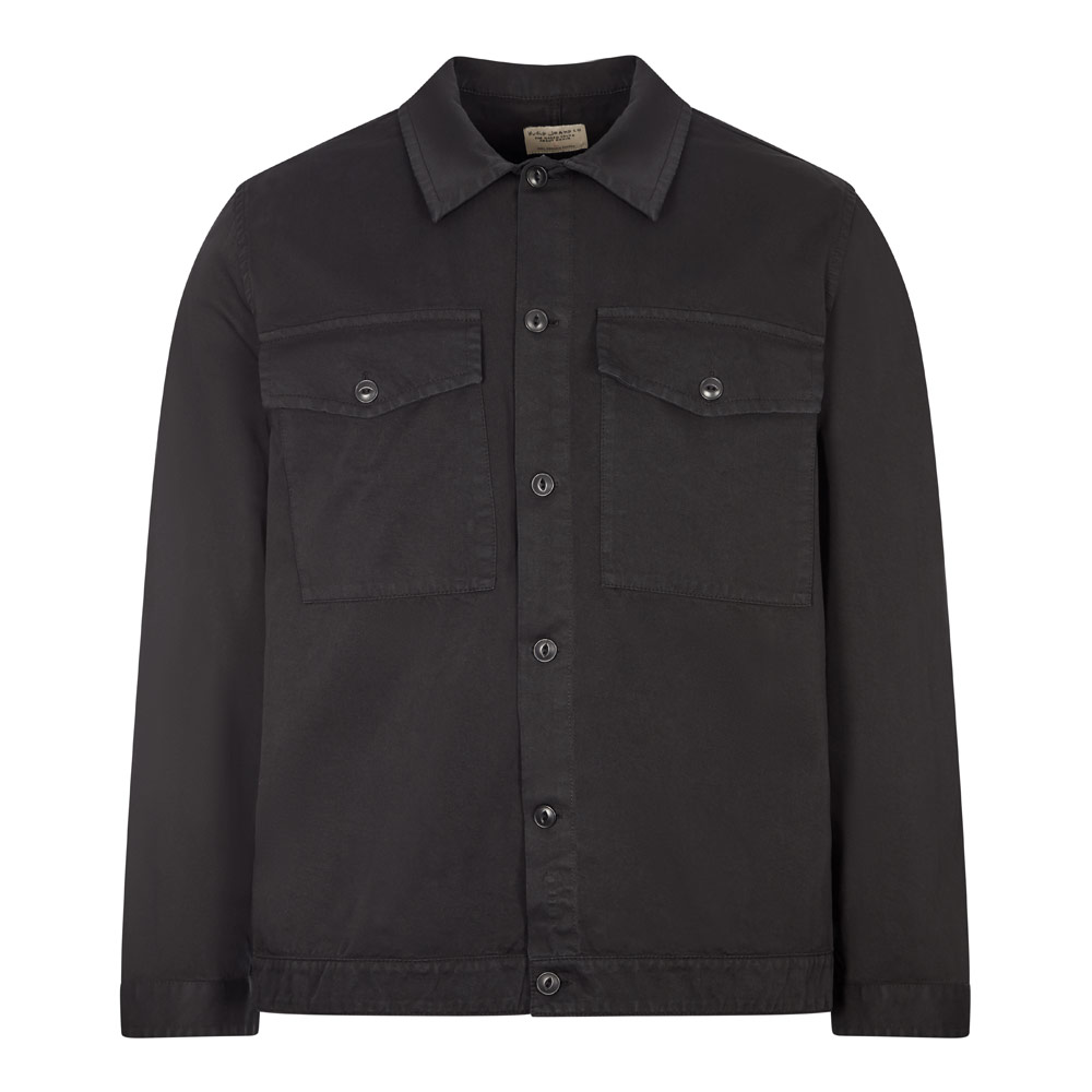 Nudie Jeans Colin Utility Overshirt In Black