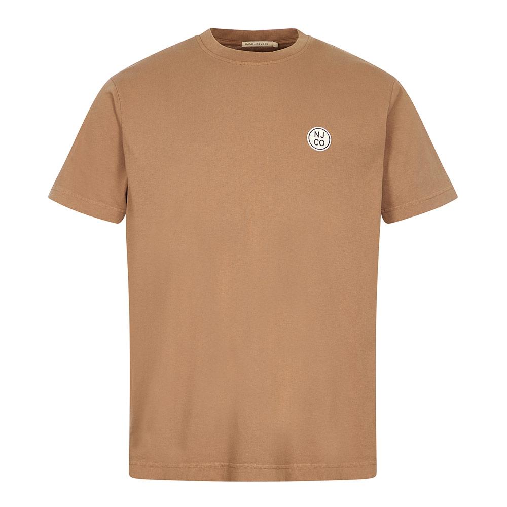 Nudie Jeans Njco Circle T-shirt In Brown