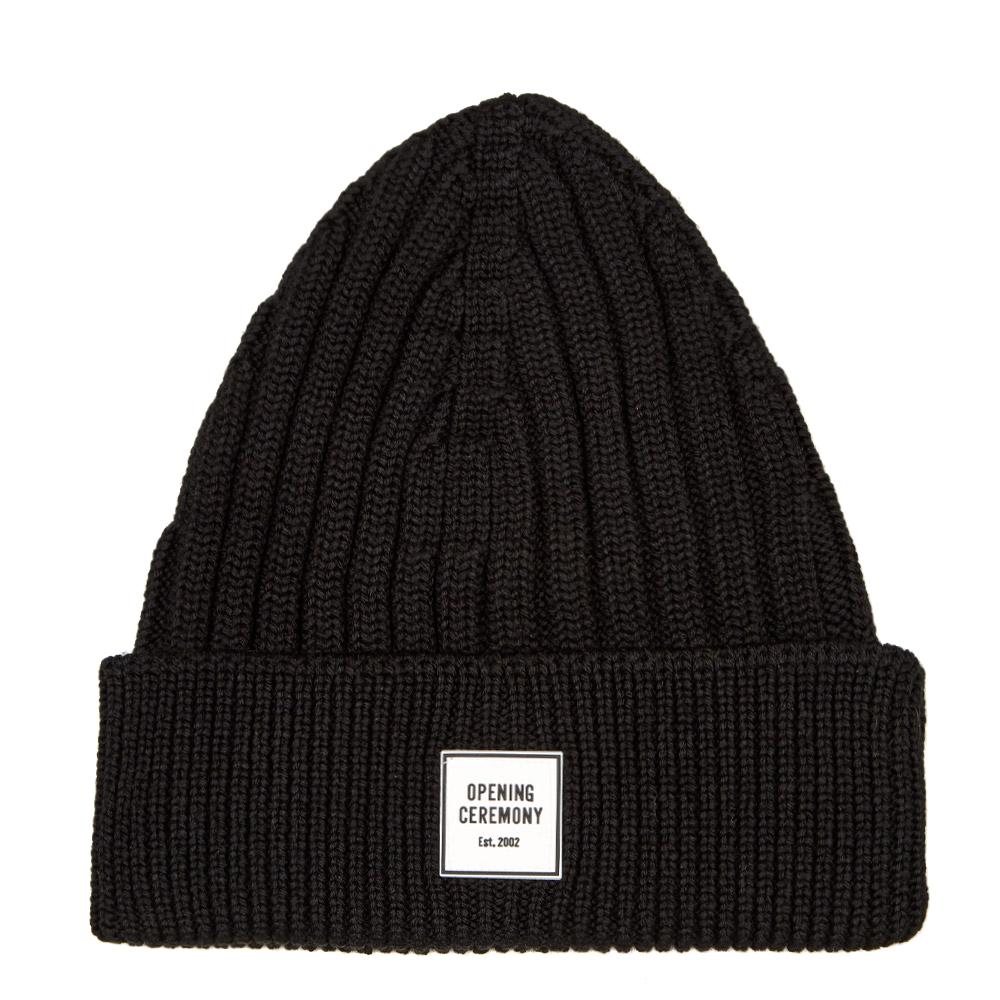 Box Logo Beanie - Black