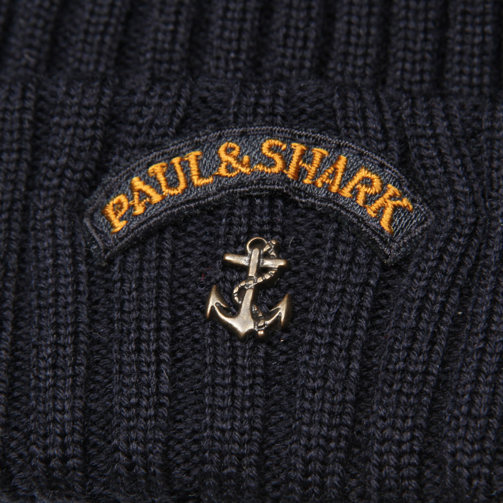 3a7e980be8d52 Paul   Shark Beanie Hat in Navy
