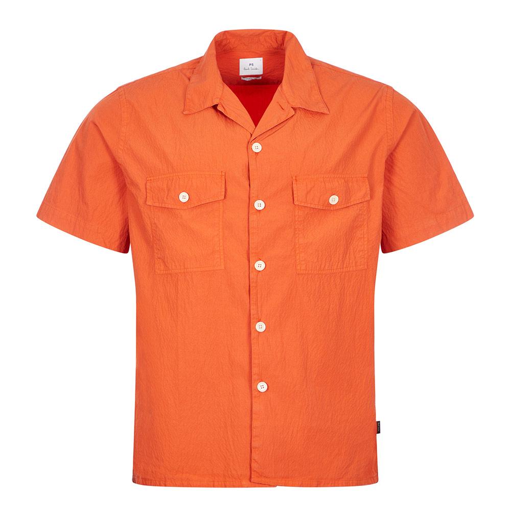 Double Pocket Shirt - Orange