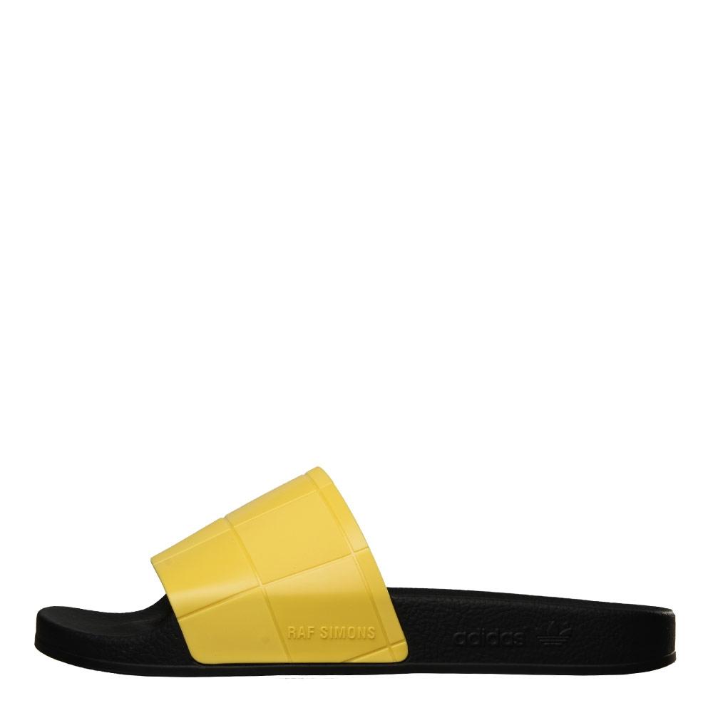 5c367cf90c490 adidas x Raf Simons Adilette Slides - Black Yellow