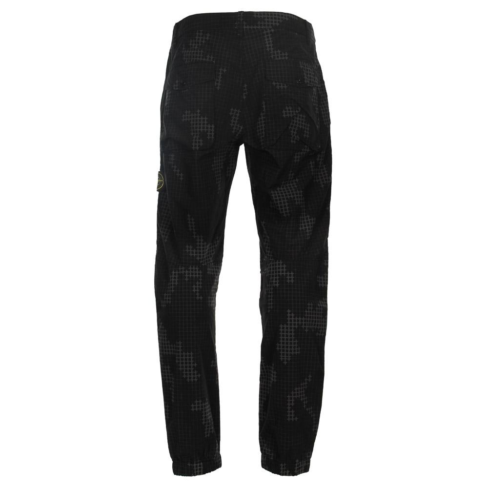 c2913f1f2e041 Stone Island Trousers   Grid Camo 6715312E3 Black   Aphrodite1994