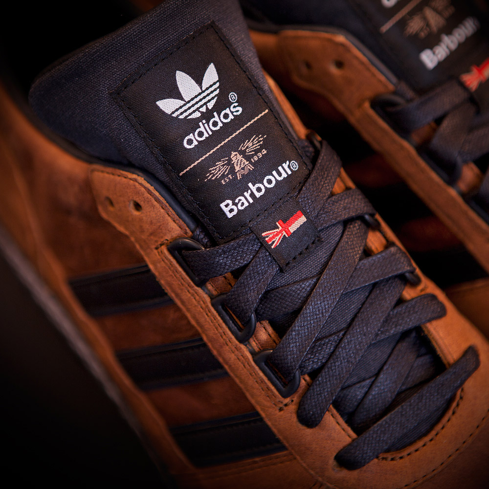newest 3e9db 4f3cc Barbour x adidas Originals TS Runner Trainers | Country Tan ...